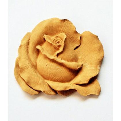 Ξυλόγλυπτο τριαντάφυλλο 11x10cm