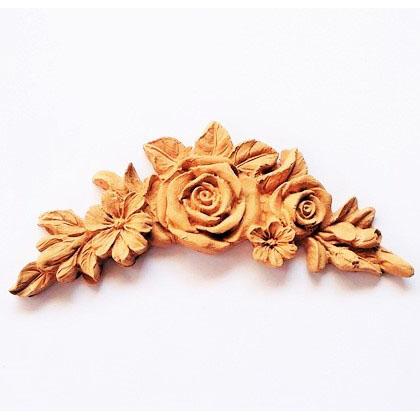 Ξυλόγλυπτο Rose garland 18x8cm