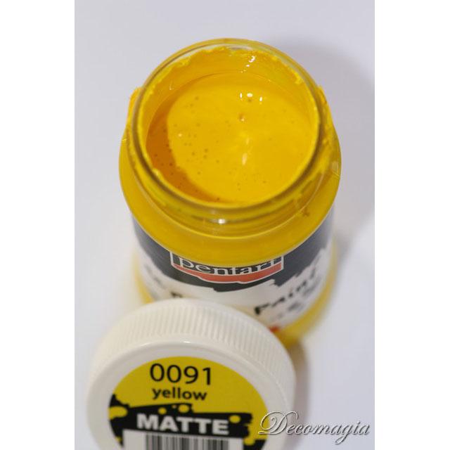 Χρώμα ακρυλικό 100ml Pentart, Υellow