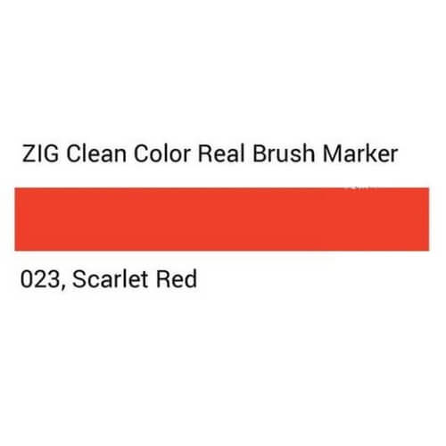 ZIG Clean Color Real Brush Scarlet red