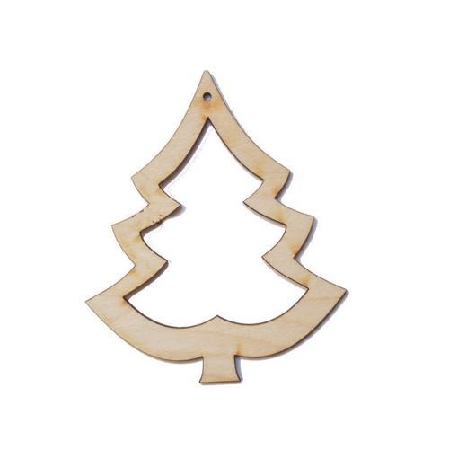 Χριστουγεννιάτικo Διακοσμητικό ξύλινο 90 mm