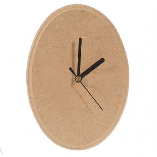 Mdf Small Oval για ρολόι 15x10cm