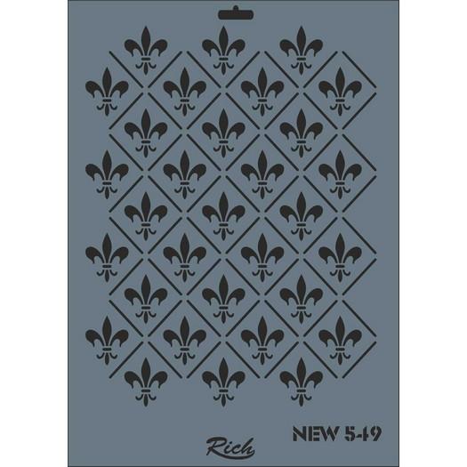 Stencil New Rich, 35x25cm, 549