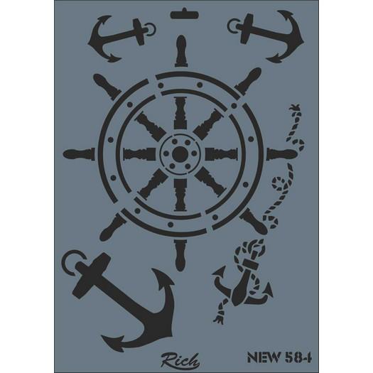 Stencil New Rich, 35x25cm, 584