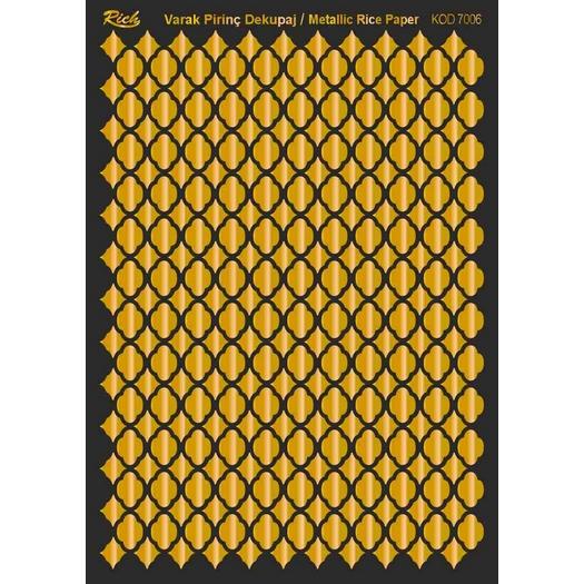 Χαρτί μεταλλικό Soft Paper decoupage 29x42cm, Rich, Gold 7005