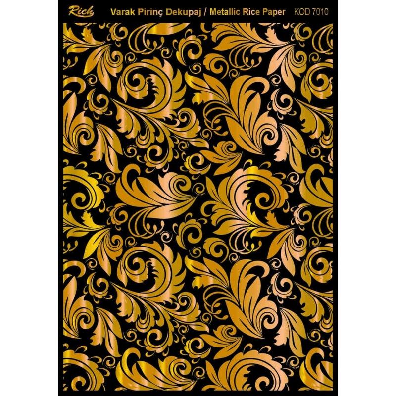 Χαρτί μεταλλικό Soft Paper decoupage 29x42cm, Rich, Gold 7010
