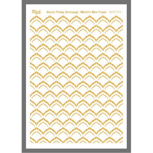 Ριζόχαρτο μεταλλικό Gold Rich, 29x42cm, 7011