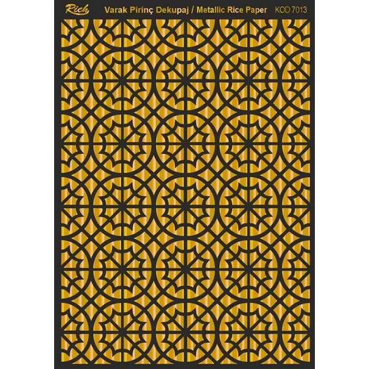 Χαρτί μεταλλικό Soft Paper decoupage 29x42cm, Rich, Gold 7013