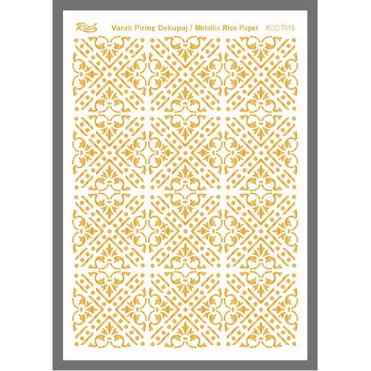 Ριζόχαρτο μεταλλικό Gold Rich, 29x42cm, 7015