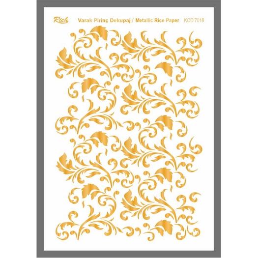 Ριζόχαρτο μεταλλικό Gold Rich, 29x42cm, 7018