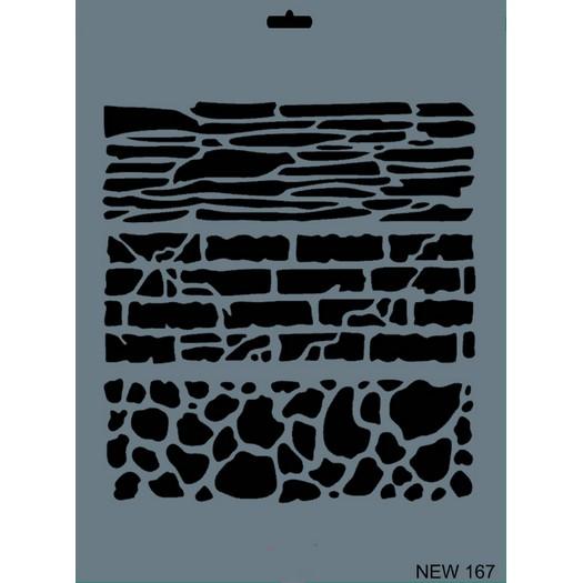 Stencil New Rich, 35x25cm, 167