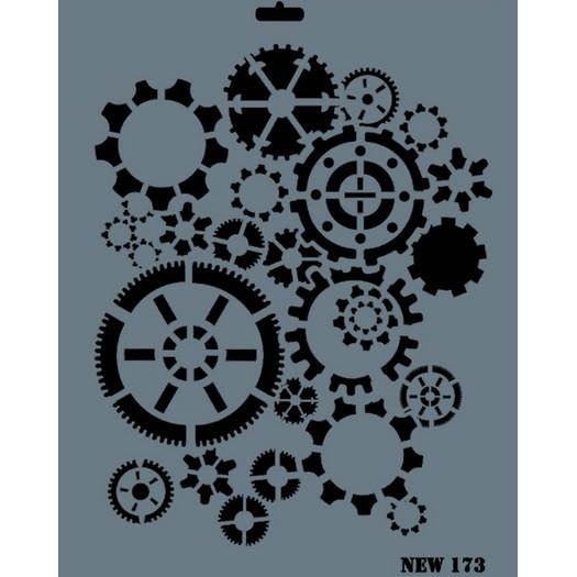 Stencil New Rich, 35x25cm, 173