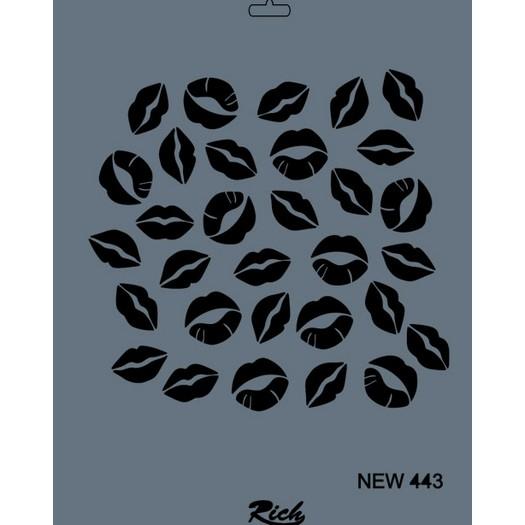 Stencil New Rich, 35x25cm, 443