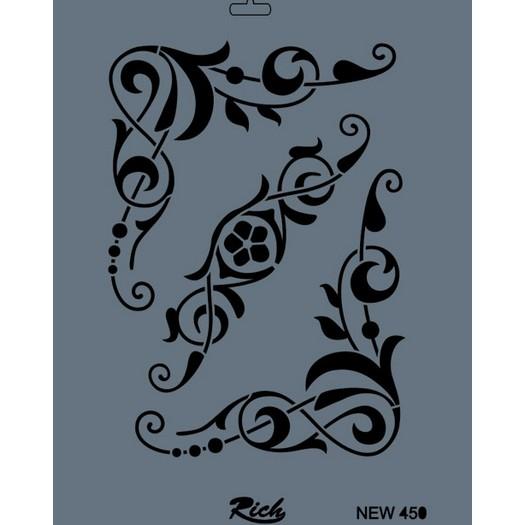 Stencil New Rich, 35x25cm, 450