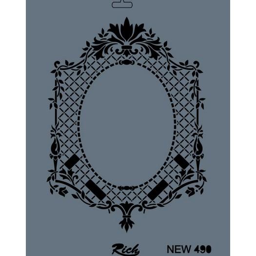 Stencil New Rich, 35x25cm, 490