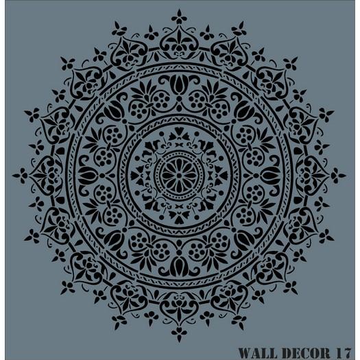 Stencil Wall Decor Rich, 50x50cm, 17