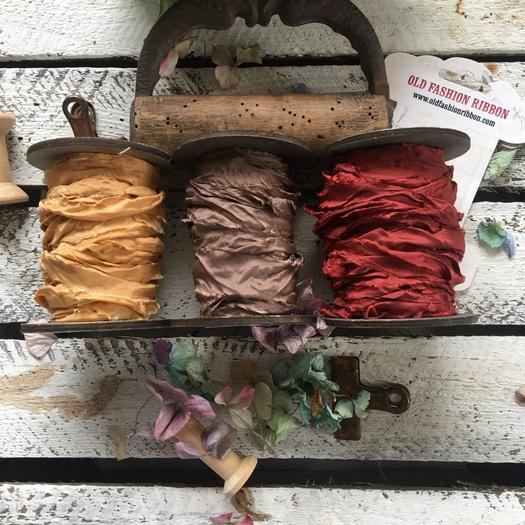 Κορδέλες vintage, Brown-red set, 3 τεμ