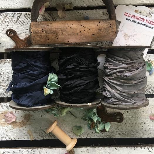 Κορδέλες vintage, Blue-Black set, 3 τεμ