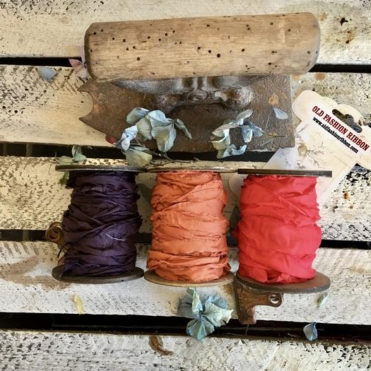 Κορδέλες vintage, Copper - red set, 3 τεμ