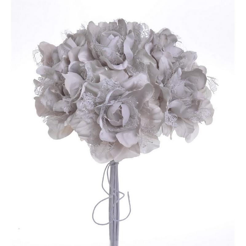 Μπουκέτο τριαντάφυλλα ανοιχτά 27cm, violet