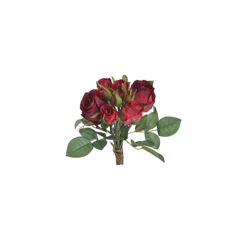 Μπουκέτο 7 τριαντάφυλλων, white 28cm