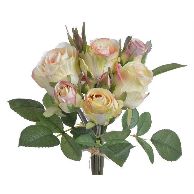 Μπουκέτο 9 τριαντάφυλλων 27cm, ivory rose