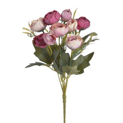 Μπουκέτο τριαντάφυλλα, 30cm, cream pink