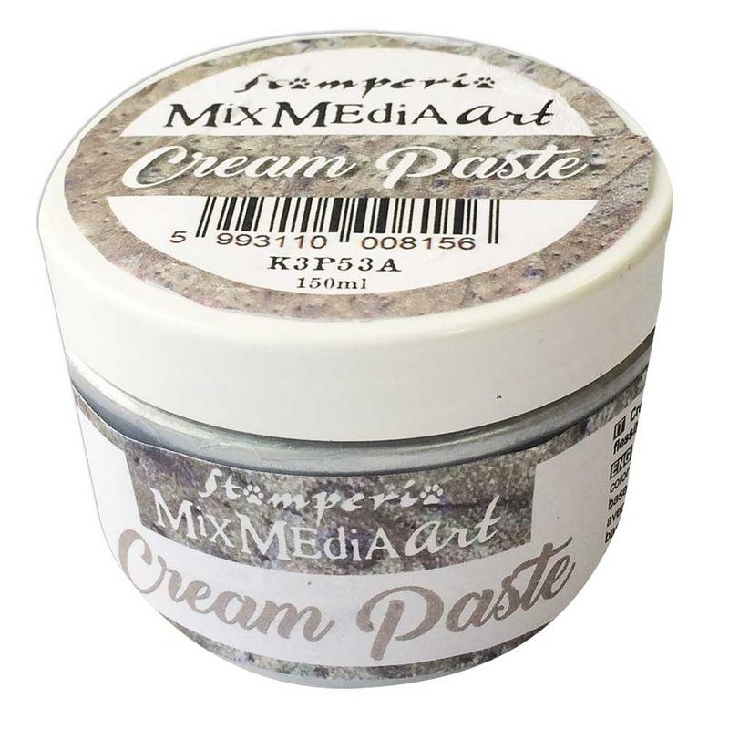 Cream Paste Stamperia metallic 150 ml, Silver