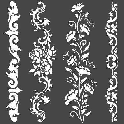 Thick Stencil 12x25 cm, Stamperia Corset