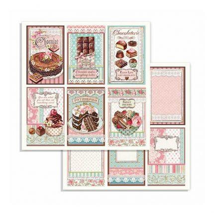 Χαρτιά scrapbooking 10τεμ Stamperia 20,3x20,3cm Sweety