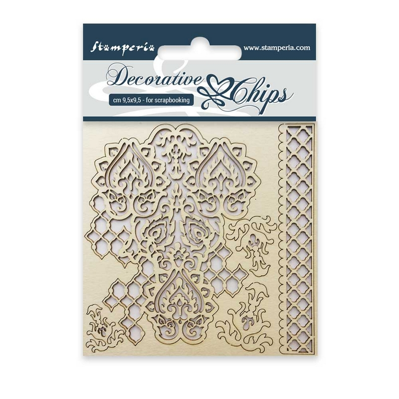 Chipboard Stamperia 9,5x9,5cm Flowers and Butterfly