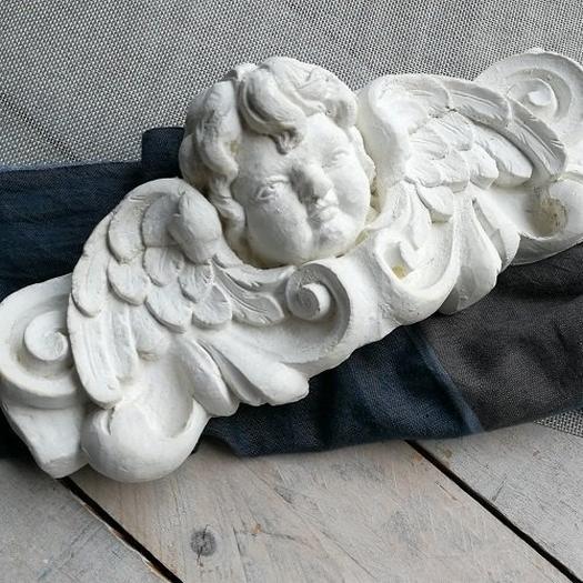 Ρητίνη τοξωτή με φιόγκο και λουλούδια, 32,5x14cm