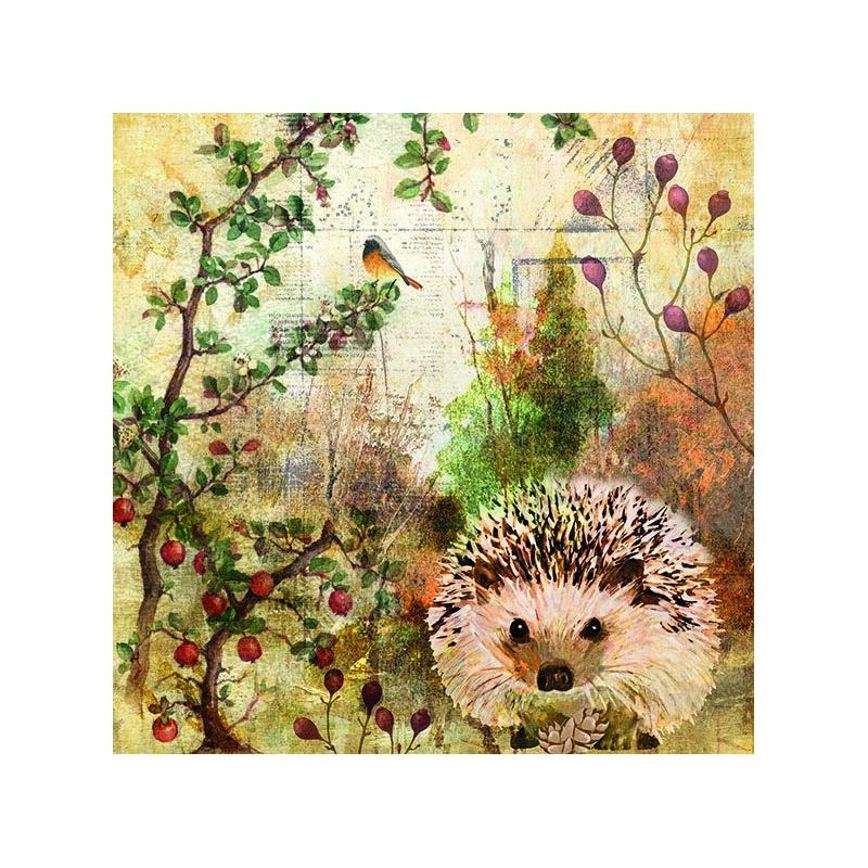Χαρτοπετσέτα για decoupage, 1τεμ, Autumn Hedgehog