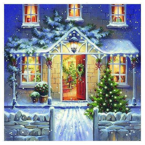 Χαρτοπετσέτα για Decoupage, Welcome Home at Christmas, 1 τεμ.