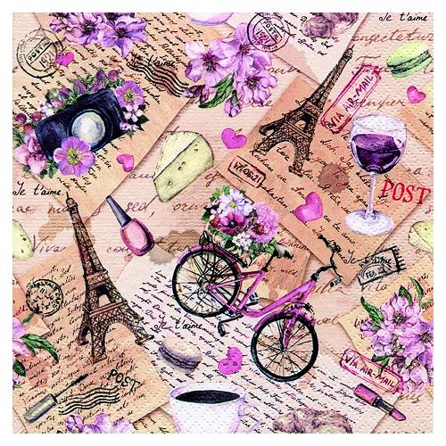 Χαρτοπετσέτα για Decoupage, Fleurs Tropicales, 1 τεμ.