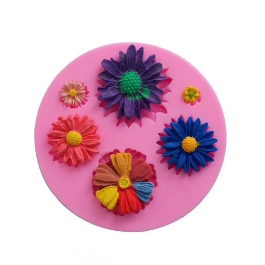 Καλούπι σιλικόνης Λουλούδια, 7,5cm