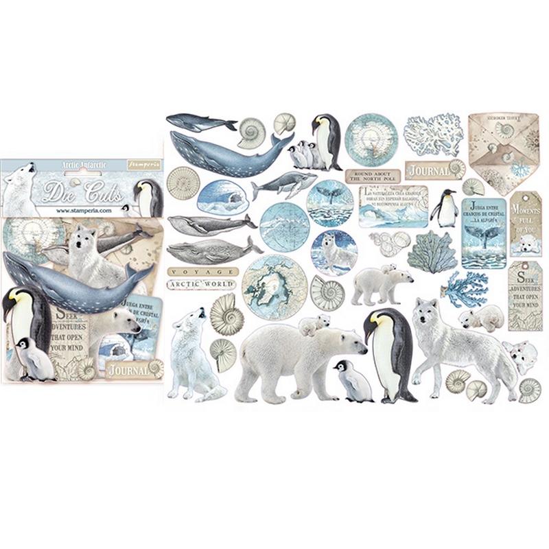 Die cuts Stamperia, Arctic Antarctic