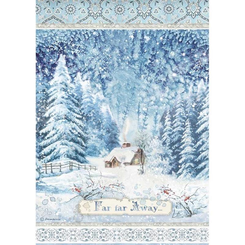 Ριζόχαρτο Stamperia 21x29cm A4, Christmas deer