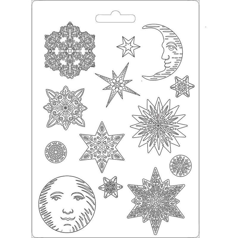 Καλούπι εύκαμπτο 21x29cm,  Snowflakes Stamperia