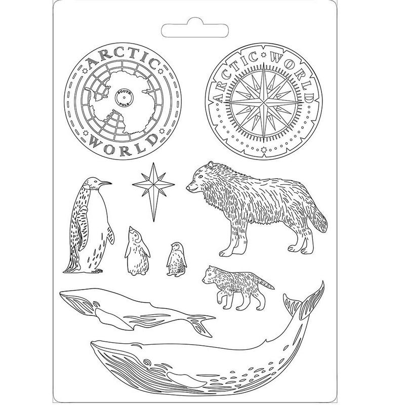 Καλούπι εύκαμπτο 21x29cm, Arctic world Stamperia