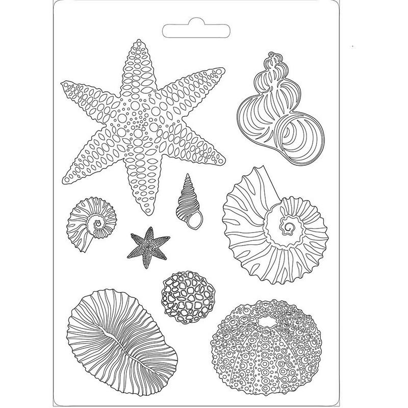 Καλούπι εύκαμπτο 21x29cm, Shells, Stamperia