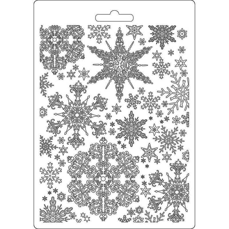 Καλούπι εύκαμπτο A5, 15x21cm, Snowflakes Stamperia