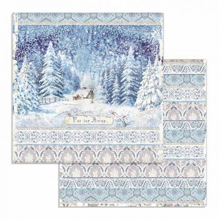 Χαρτιά scrapbooking 10τεμ, 30.5x30.5cm, Winter Tales Stamperia