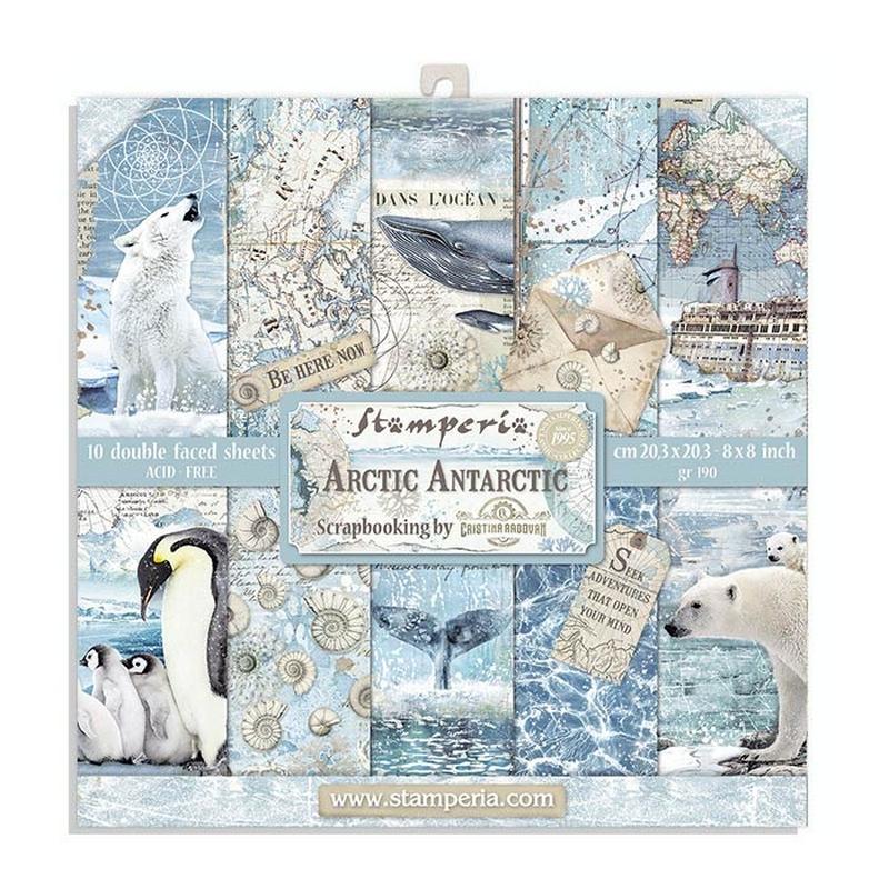 Χαρτιά scrapbooking 10τεμ 20.3x20.3cm Winter Tales Stamperia