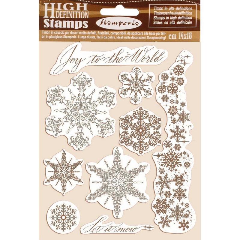 Σφραγίδα HD 14x18cm Stamperia, Snowflakes