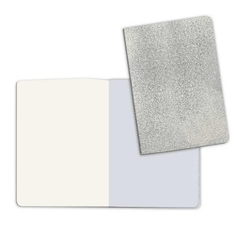 Σημειωματάριο A5 με ασημένιο εξώφυλλο Stone paper (κενές σελίδες)