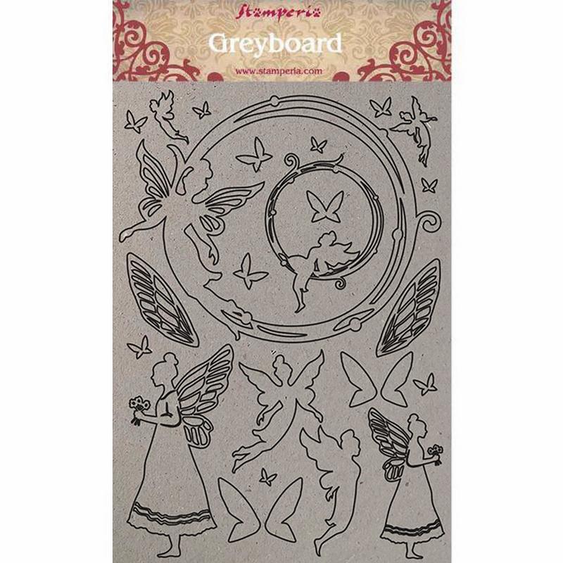 Διακοσμητικά από χαρτόνι Stamperia, 21x29,7cm, Fairies