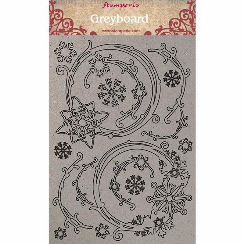 Διακοσμητικά από χαρτόνι Stamperia, 21x29,7cm, Snowflakes and garlands