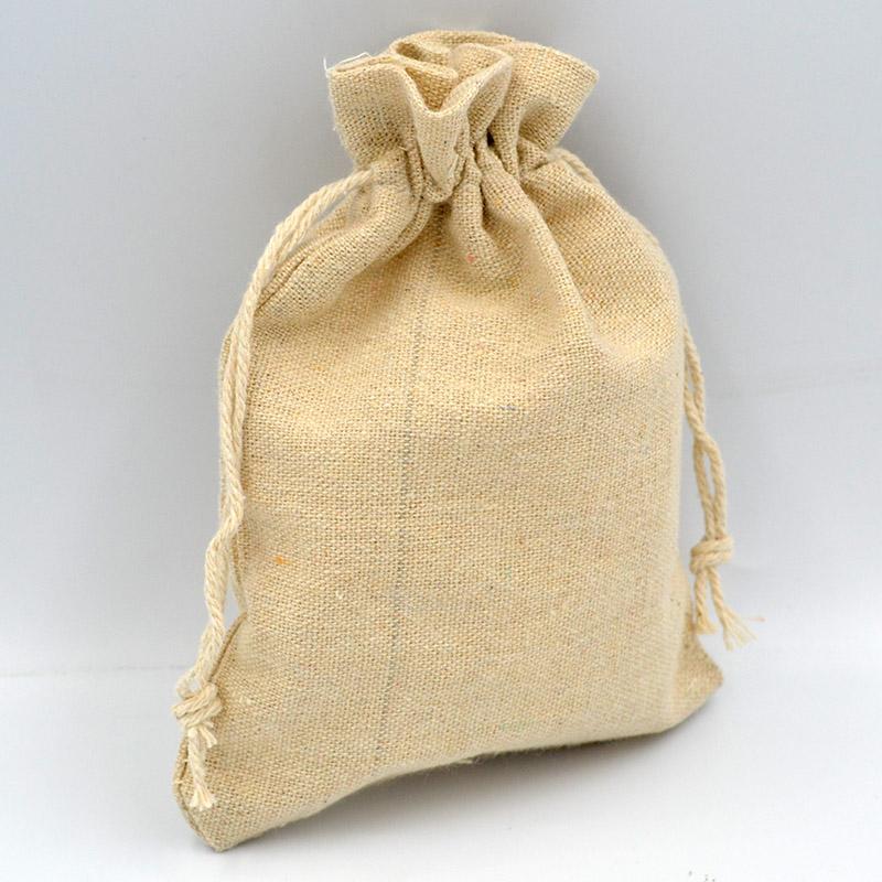 Πουγκί για μπομπονιέρες λονέτα φυσικό 13x18cm, 10τμχ