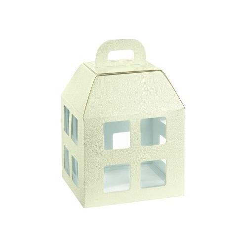 Κουτί-σπιτάκι χάρτινο λευκό, 20x20x25cm